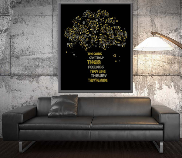 The Trees by Rush Song Lyrics Art Music Enthusiast Gift
