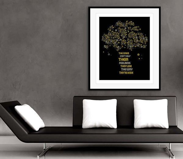 rush the trees song lyrics music poster
