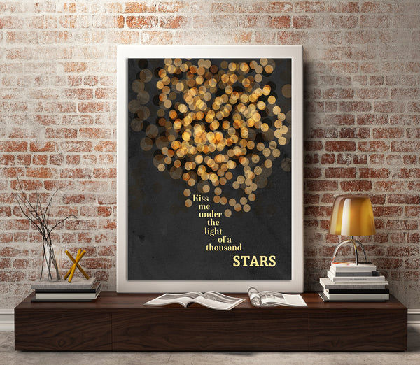 Thinking out Loud by Ed Sheeran Wedding Song Lyrics Art Poster Print Wall Decor for Music Enthusiasts