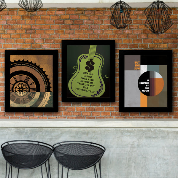 Money from Dark Side of the Moon by Pink Floyd Song Lyric Poster Illustration