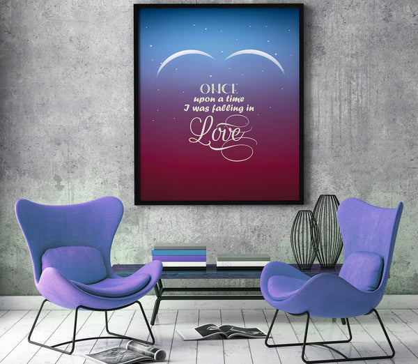 Total Eclipse of the Heart by Bonnie Tyler Song Lyrics Wedding Song Inspiration Poster Print Artwork 80s Classic Rock Music
