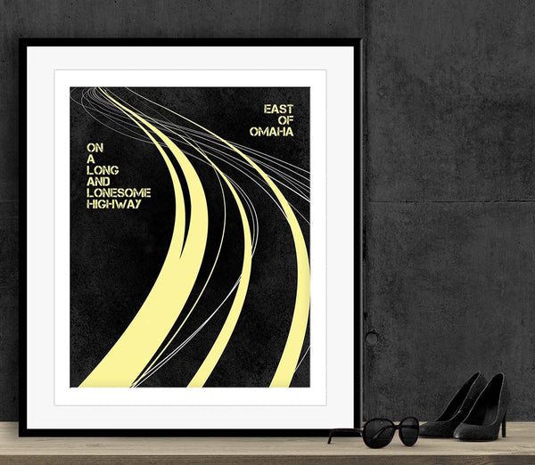 Turn the Page by Bob Seger Song Lyrics Art Music Poster Wall Decor