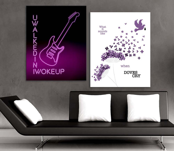 U Got the Look by Prince Classic Rock Music Poster Illustration