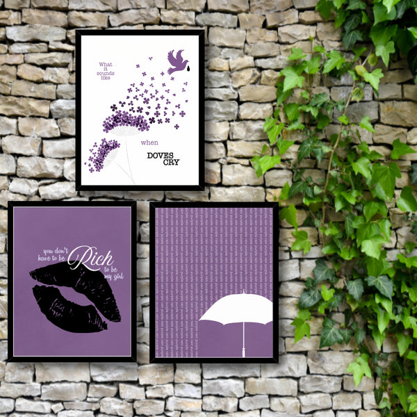 When doves cry by Prince Song Lyric Wall Décor Print