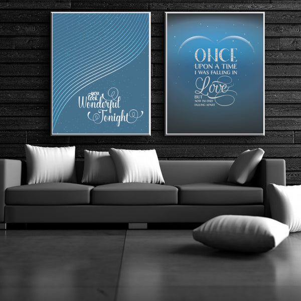 Total Eclipse of the heart by Bonnie Tyler - Song Lyric Wall Art Print