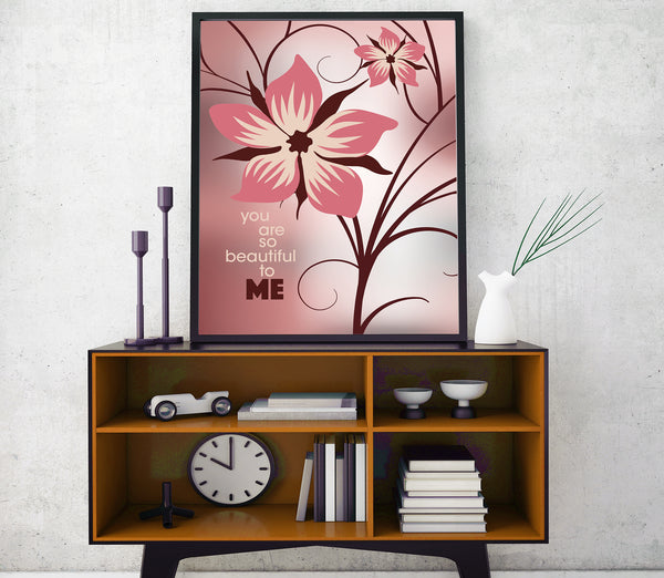 You are so Beautiful by Joe Cocker Song Lyrics Art Poster
