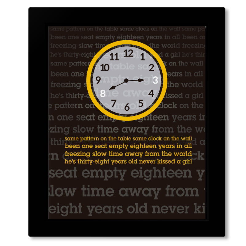 Framed Wall Art Classic Rock Music Song Lyric Art