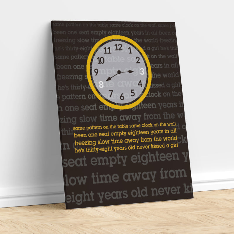 Music Memorabilia Song Lyric Art Print Gallery Canvas Wrap