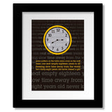 Framed and Matted Wall Art Classic Rock Music Song Lyric Art