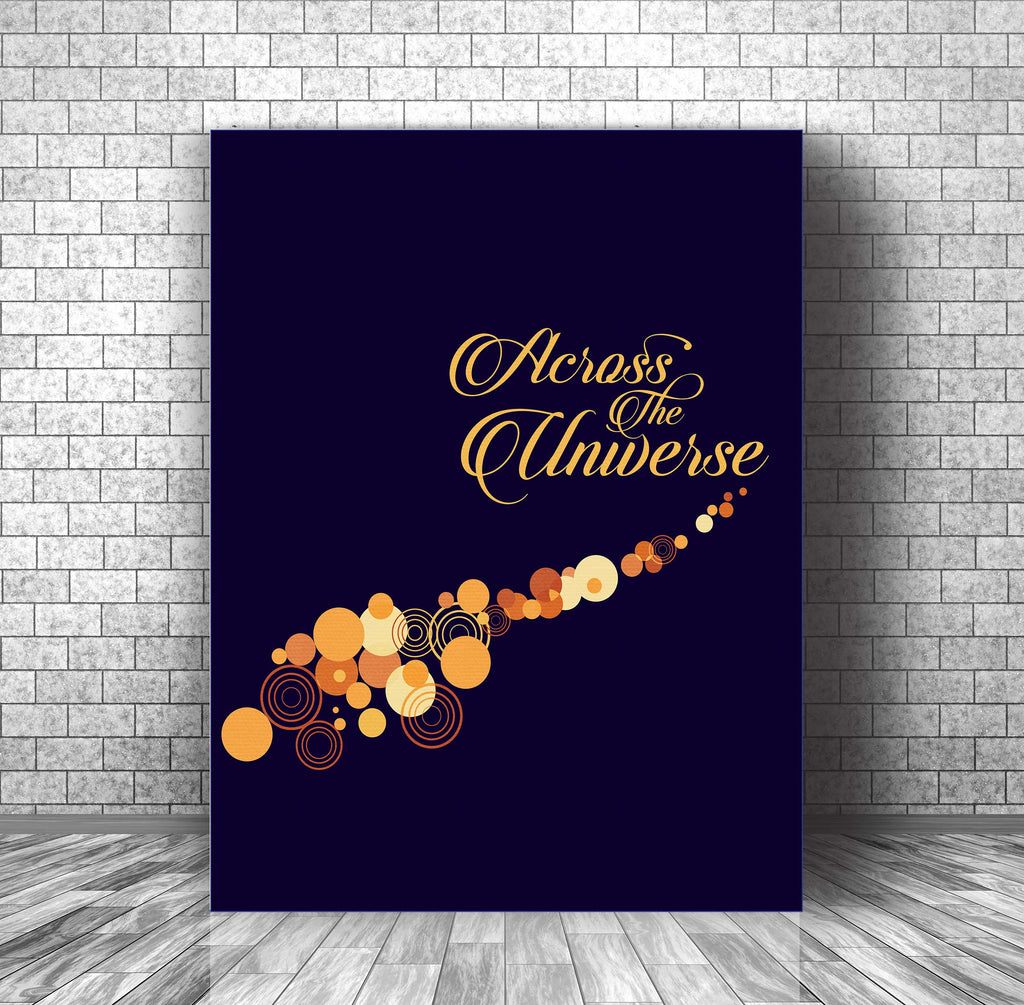 Beatles • Across the Universe • Lyric Illustration Poster