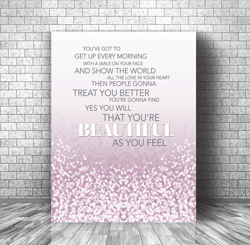 Carole King - Beautiful - Love Wedding Song - Lyrics Art Print
