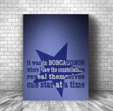 Music Poster Lyric Wall Decor Art - Bobcaygeon by Tragically Hip