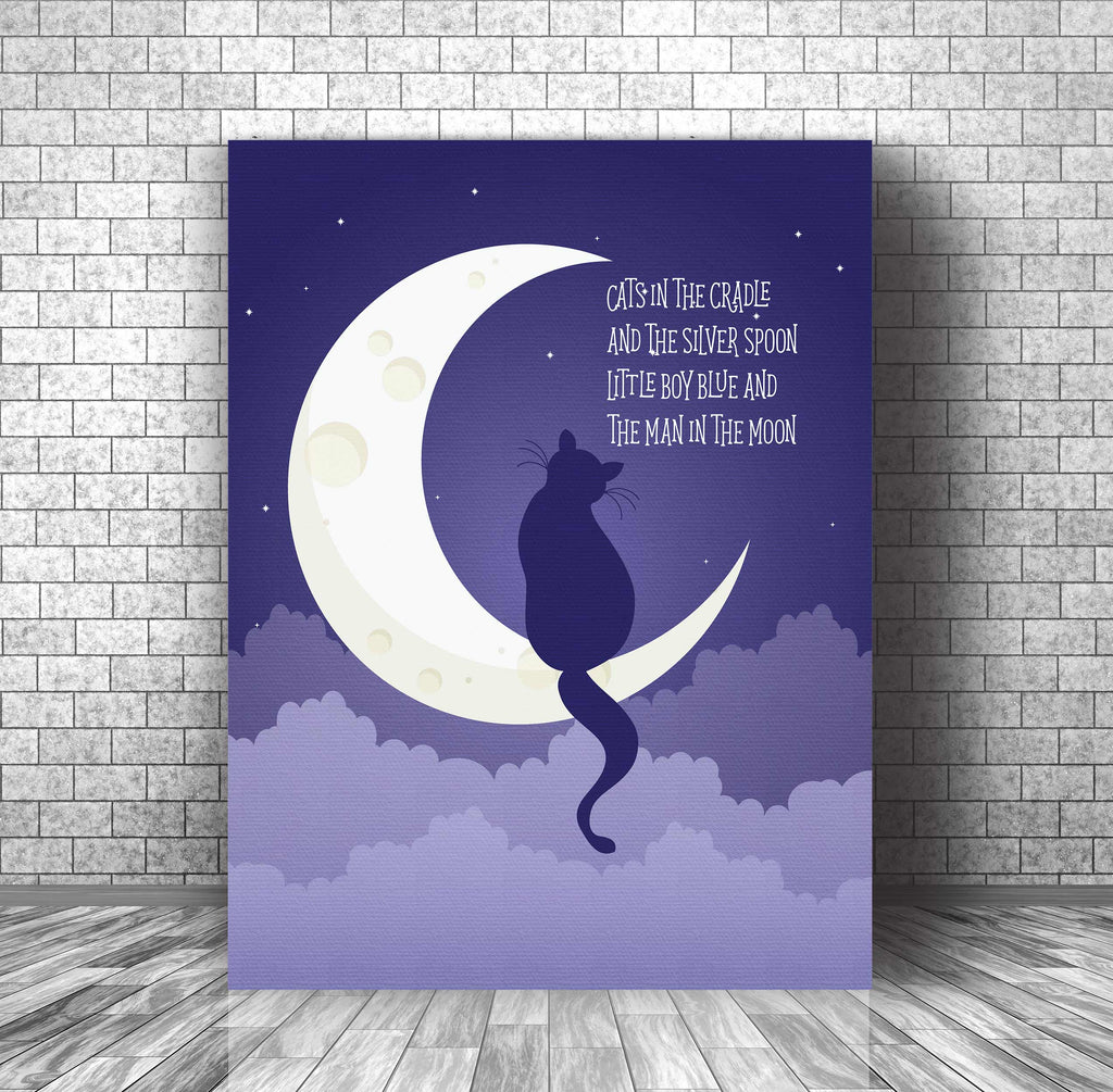 70s Folk Music Poster Song Lyric Art - Cats in the Cradle by Harry Chapin