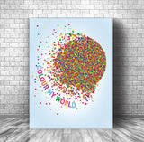 Chicago • Colour My World • Love Song Lyrics Inspired Art Print