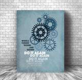 Song Lyric Music Poster Print Wall Art - Do it Again by Steely Dan