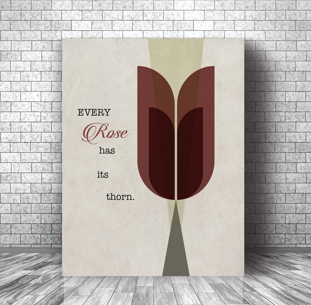 Song Lyric Wall Art Music Quote Print - Every Rose Has Its Thorn by Poison