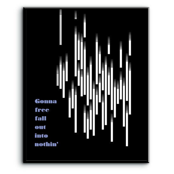 free falling by tom petty song lyric music poster