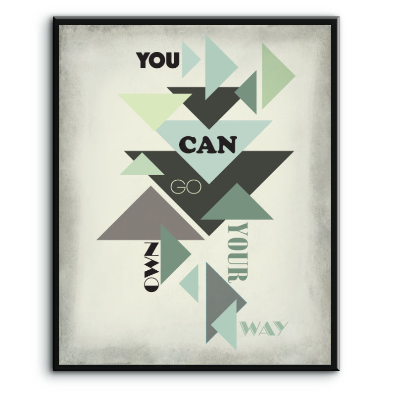 You Can Go Your Own Way by Fleetwood Mac - Classic Rock Music Song Lyric Wall Art - Print, Poster, Canvas or Plaque