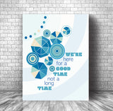 Song Lyric Art Music Poster - Here for a Good Time by Trooper