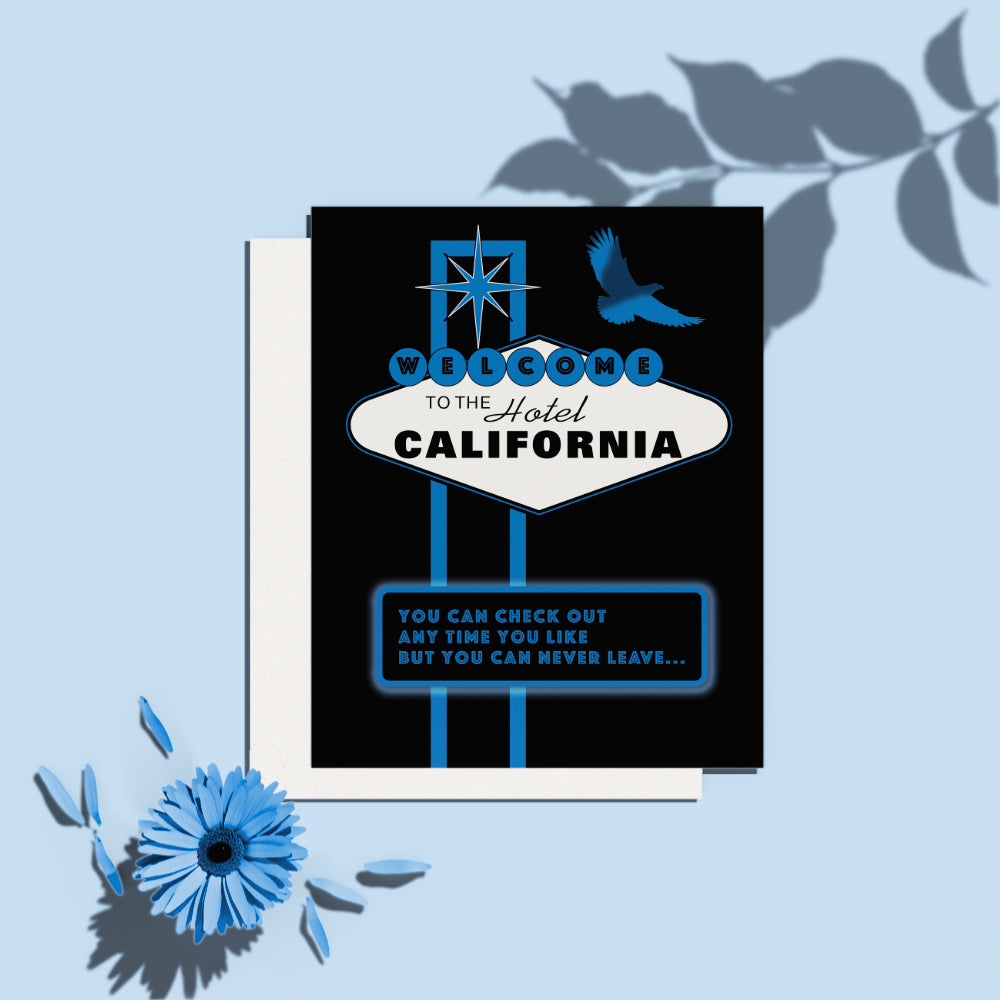 Hotel California by the Eagles - 70s Music Poster Lyric Inspired Art Print, Canvas or Plaque