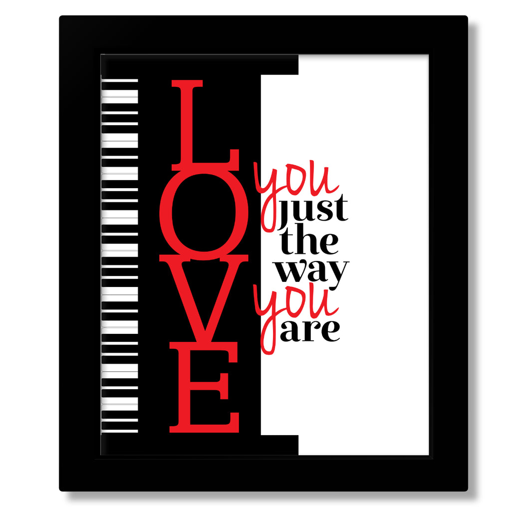 I Love you Just the Way you are by Billy Joel Lyrical Art Quote Poster Custom Design Print