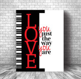 Song Lyrics Art Poster - Love You Just the Way You Are by Billy Joel