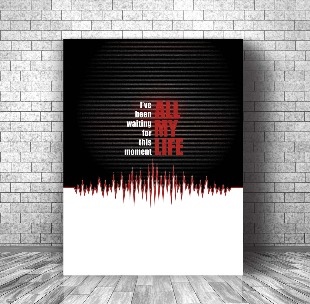 80s Classic Rock Music Lyric Art - In the Air Tonight by Phil Collins Canvas Gallery Wrap