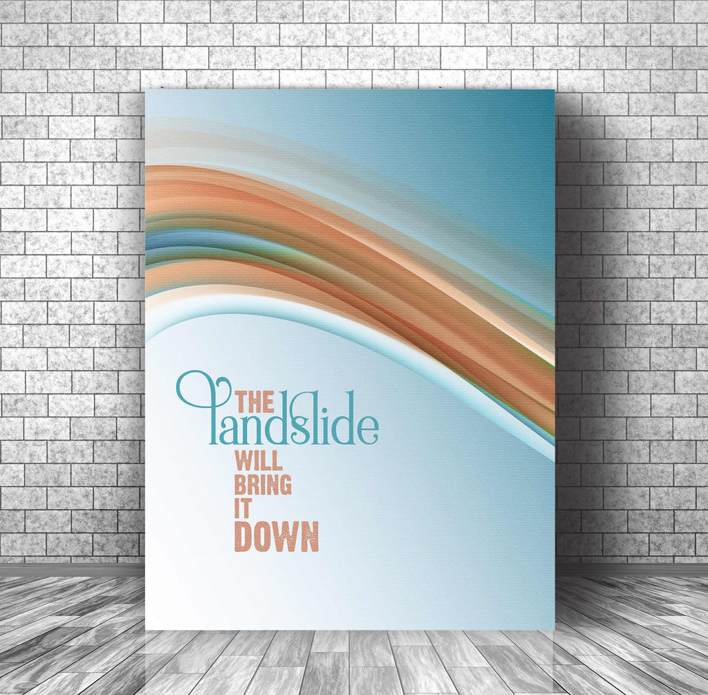 Landslide by Fleetwood Mac Song Lyrics Inspired Wall Decor Canvas Music Gift