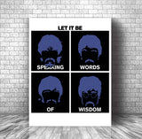 Lyric Inspired Wall Decor Poster Print Canvas - Let it Be by Beatles