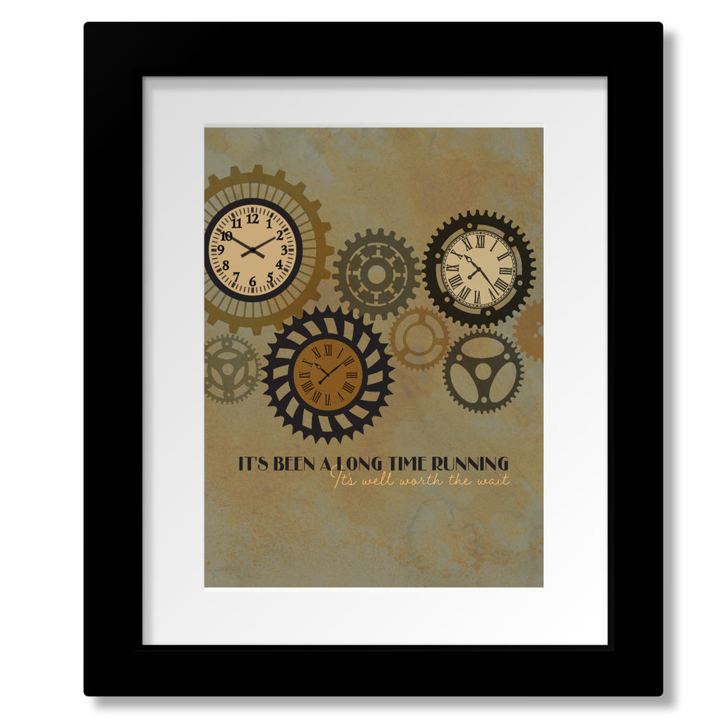 Long Time Running By The Tragically Hip - Song Lyric Print - Visual Music Art