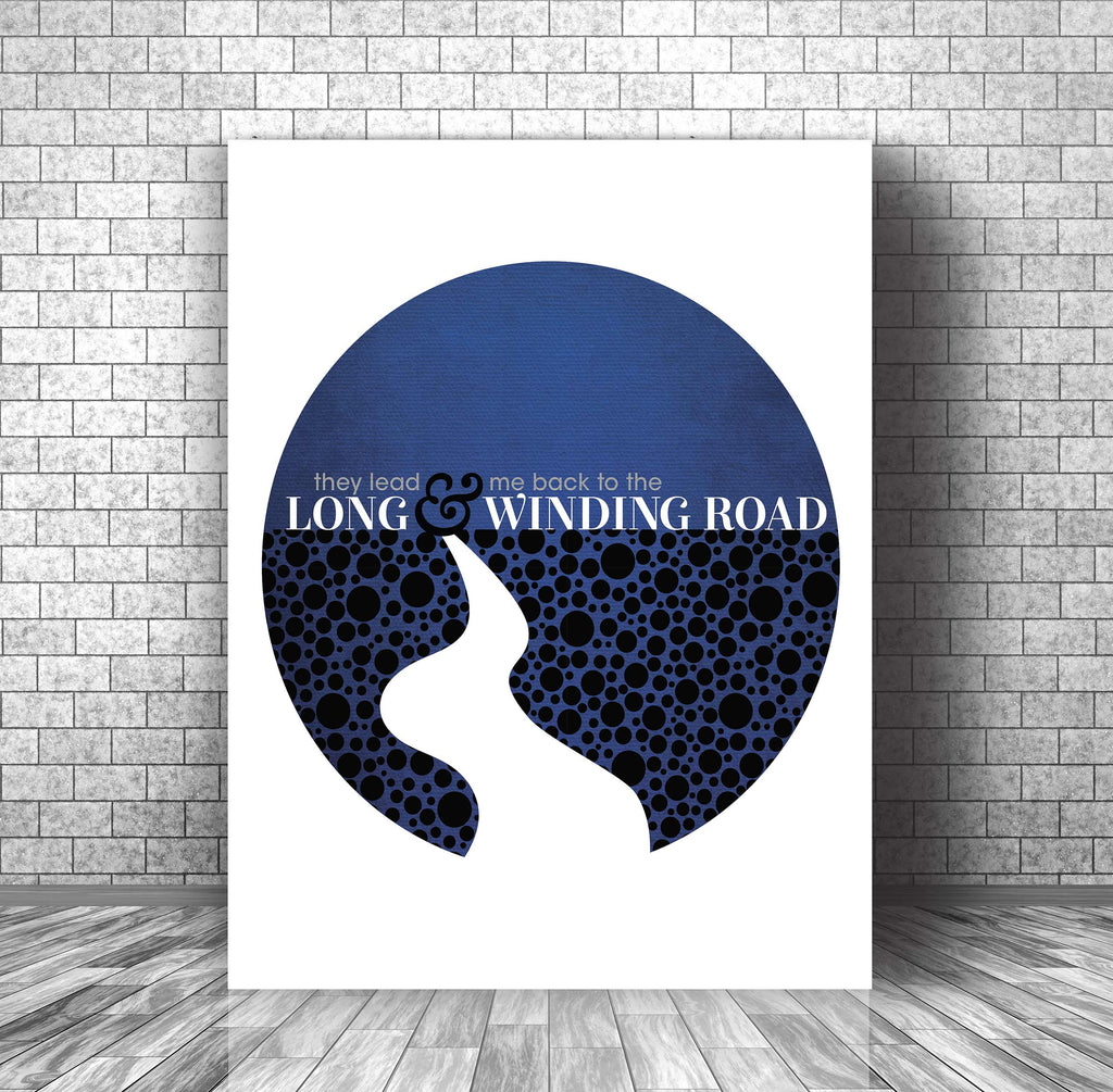 Beatles • Long and Winding Road • Song Lyric Poster Art