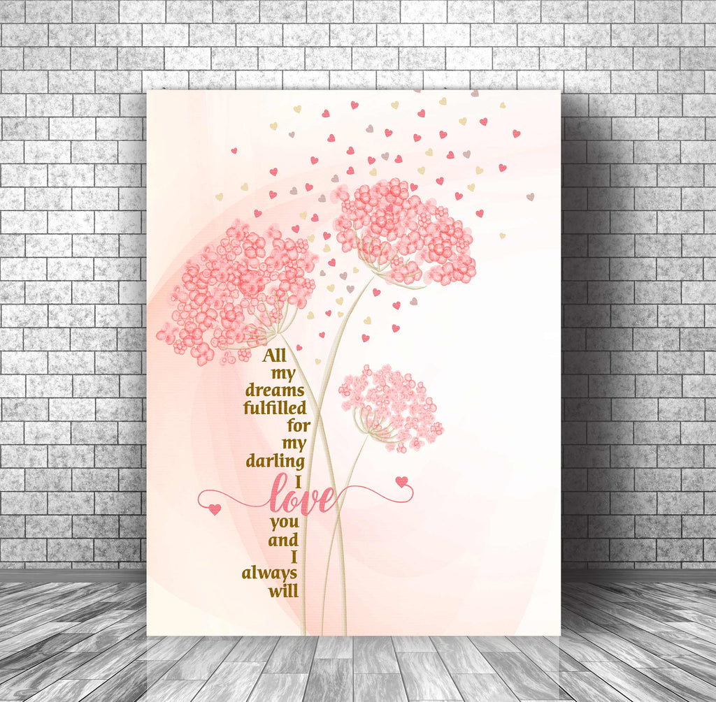 Wedding Song Lyric Print Poster Art - Love Me Tender by Elvis Presley