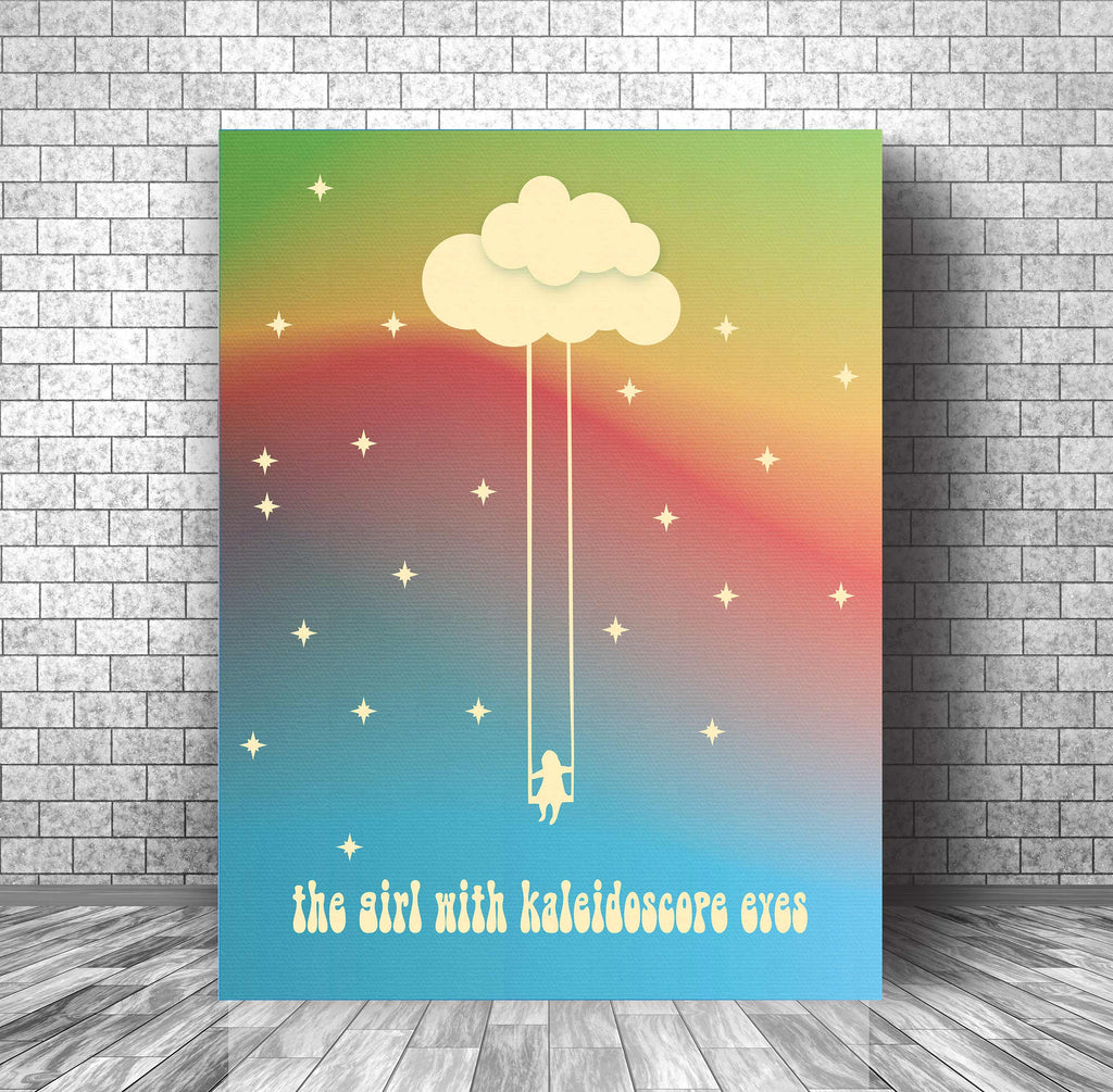 Song Lyric Art Music Print - Lucy in the Sky with Diamonds by Beatles