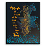 Maybe I'm Amazed by Paul McCartney Song Lyric Wall Art Print Poster