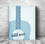 me and bobby mcgee song lyrics poster print