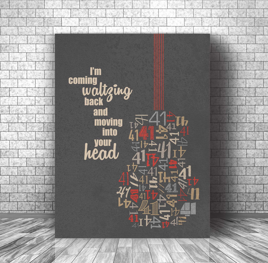 Music Lyrics Inspired Poster Art - No 41 Number by Dave Matthews Band