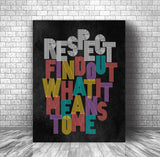 Song Lyric Poster Art Wall Music Print - Respect by Aretha Franklin