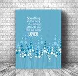 Classic Rock Love Song Lyric Quote Music Poster - Something by the Beatles
