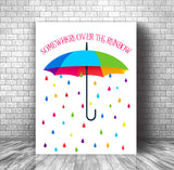 Classic Song Lyric Print - Somewhere Over the Rainbow from Wizard of Oz