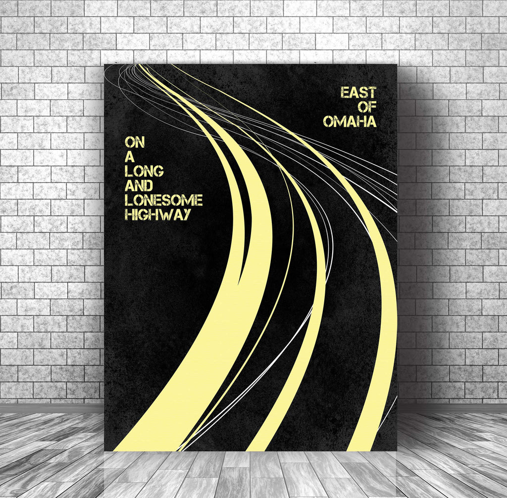 Song Lyrics Music Poster Wall Decor Art - Turn the Page by Bob Seger