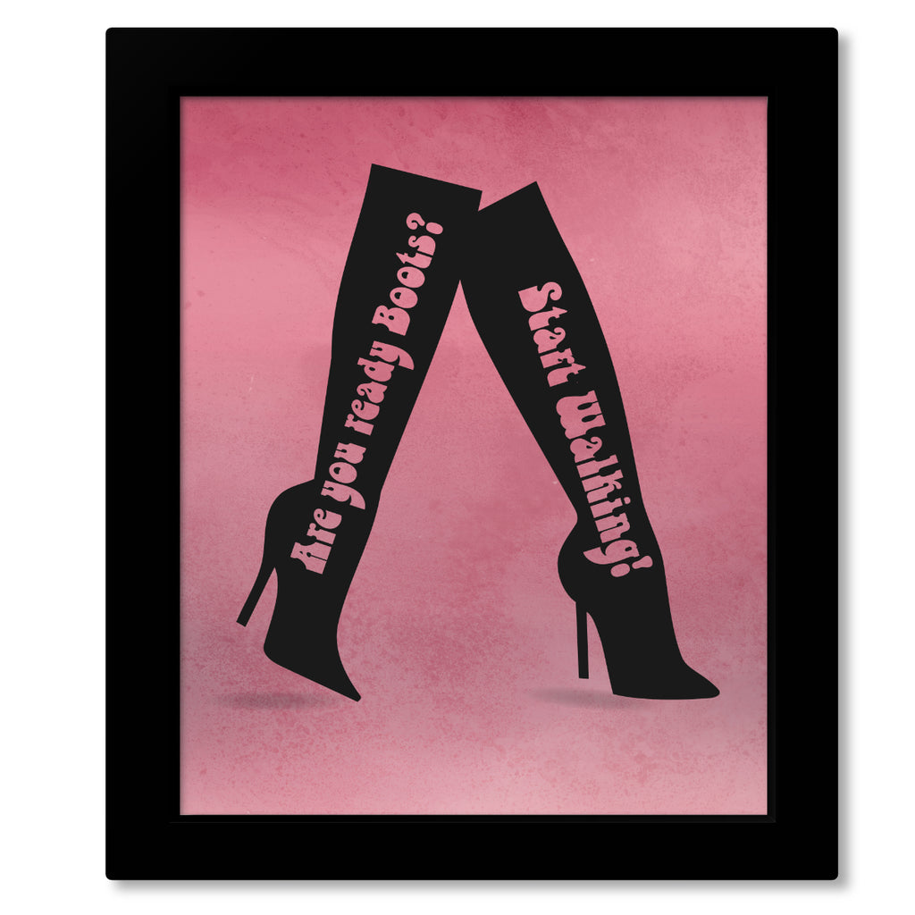 60s Song Lyric Art - These Boots are Made for Walking by Nancy Sinatra