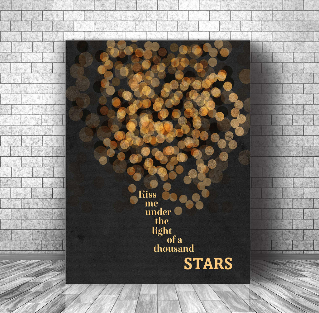 Wedding Song Lyric Wall Art Print - Thinking Out Loud by Ed Sheeran