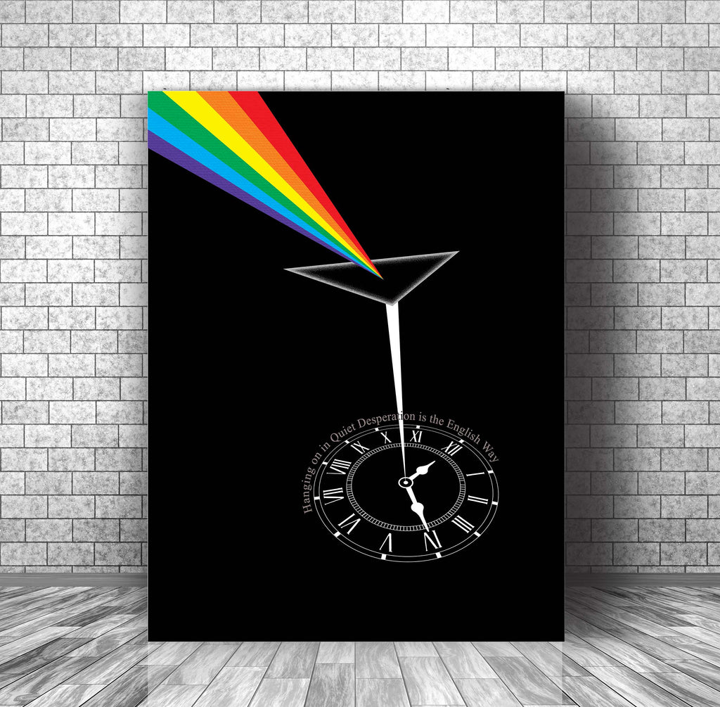 70s Rock Music Quote Lyric Poster Art Print - Time by Pink Floyd