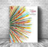 Music Enthusiast Lyric Art Wall Poster - True Colors by Cyndi Lauper