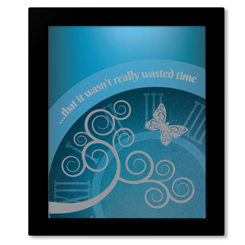 Artwork Song Lyric Print Poster Wall Decor - Wasted Time by the Eagles