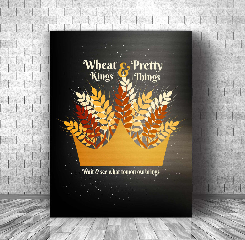 Lyrically Inspired Music Art Poster - Wheat Kings by the Tragically Hip