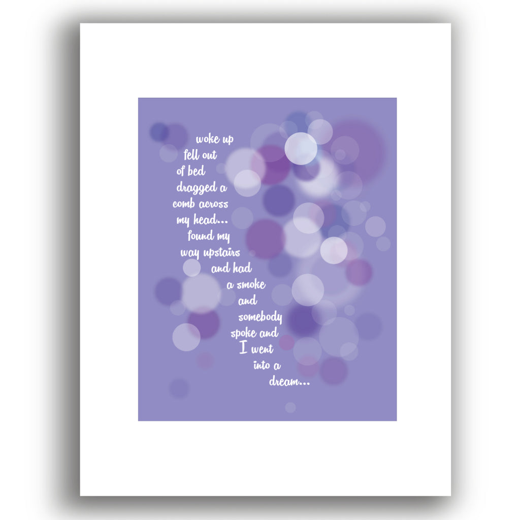 A Day in the Life by the Beatles Song Lyric Art Poster