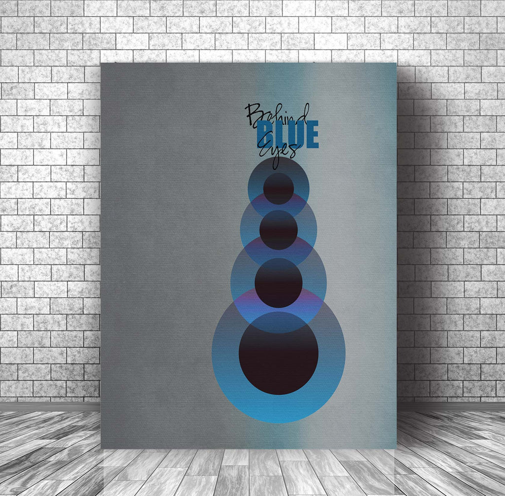 Song Quote Lyric Music Poster Art - Behind Blue Eyes by The Who
