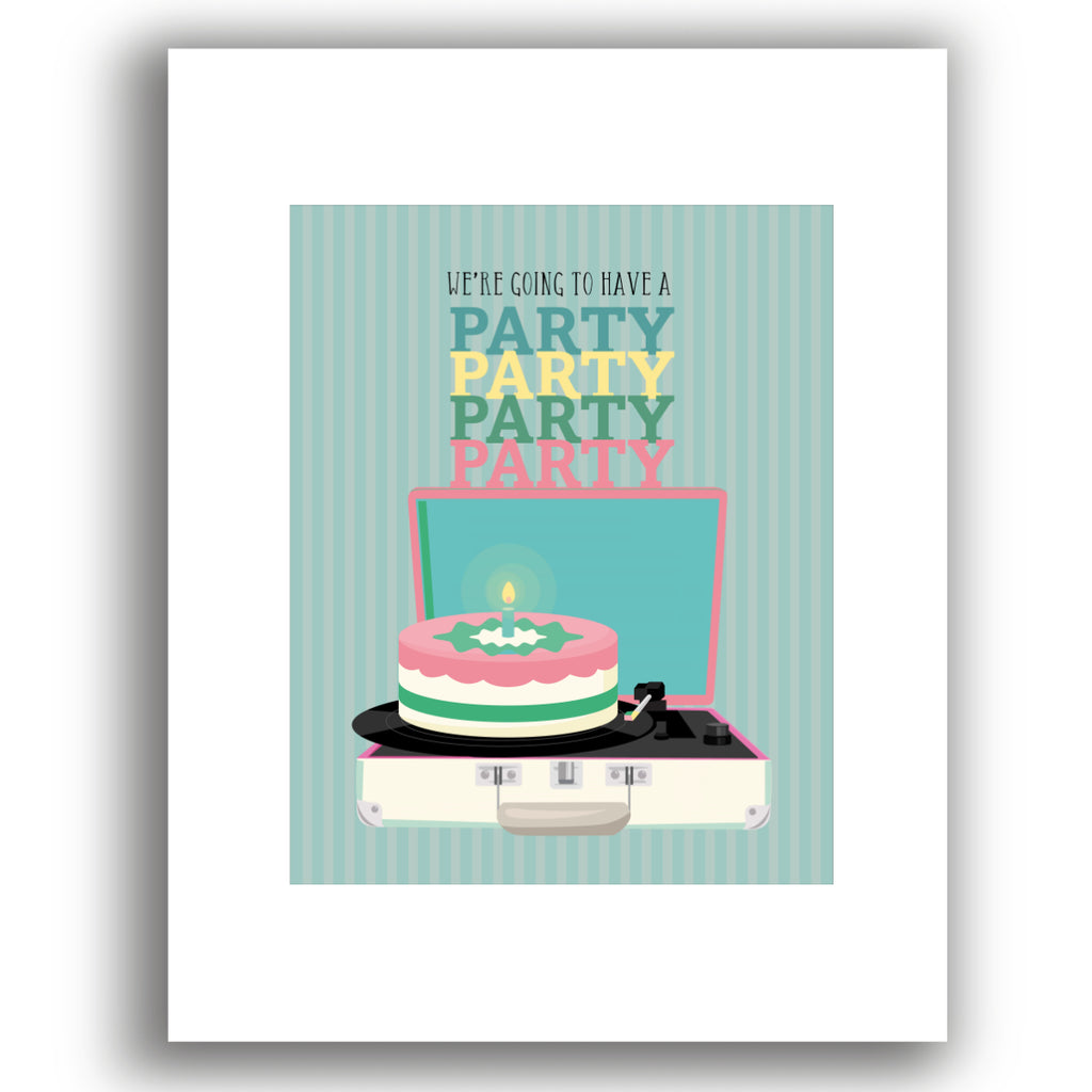 birthday by the Beatles song lyric print poster