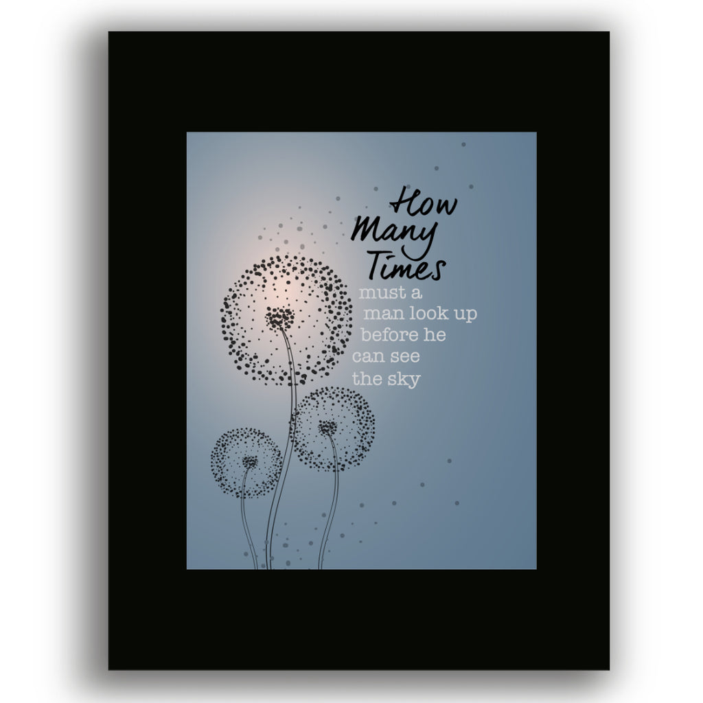 Blowing in the Wind by Bob Dylan Song Lyrics Art